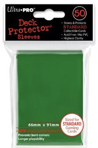 Ultra Pro Card Sleeves- Green 50ct