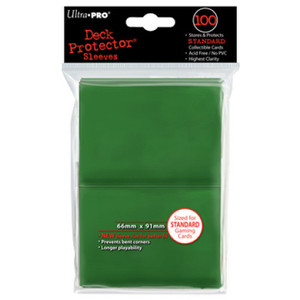 Ultra Pro Card Sleeves- Green 100ct