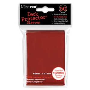 Ultra Pro Card Sleeves- Red 50ct