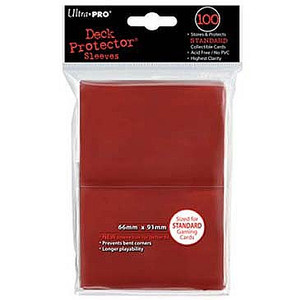 Ultra Pro Card Sleeves- Red 100ct
