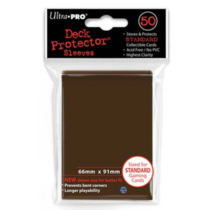 Ultra Pro Card Sleeves- Brown 50ct