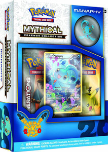 Mythical Pokemon Manapy Collection - Includes 2x Generations Booster Packs