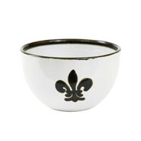 16 oz Bowl in Black Fleur de Lis