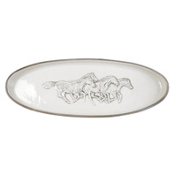 Embossed Running Horse Antipasto Tray