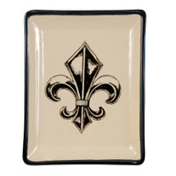 Transparent Fleur de Lis Small Square Tray #1