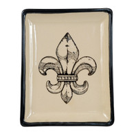 Transparent Fleur de Lis Small Square Tray #2