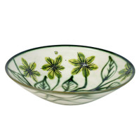 "15"" Flared Bowl in Mahoney's Flowers - Side View"