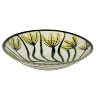"13"" Flared Bowl in Mahoney's Flowers - Side View"