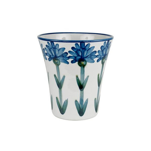 "5"" Flower Pot in Bachelor Button"