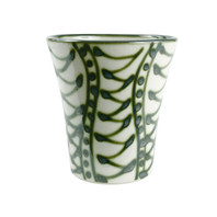 "6 1/2"" Flower Pot & Saucer in Graffiti Green"