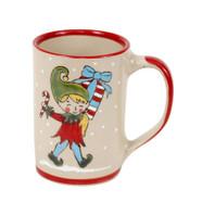 14 oz Santa's Elves Mug Candycane