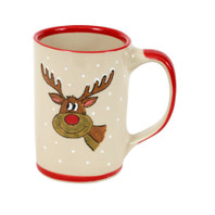 14 oz Santa's Elves Mugs Rudolph