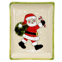 Small Snack Tray with Santa Clause in Santa's Elves