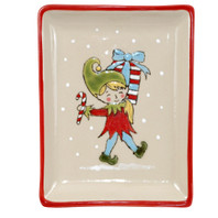 Small Snack Tray - Candycane in Santa's Elves