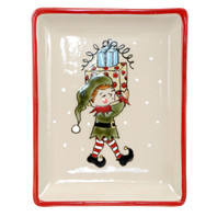 Small Snack Tray - Jingles in Santa's Elves