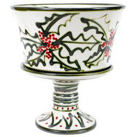 Large Salad Bowl with Stand in Holly Graffiti