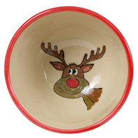 16 oz Bowl with Red Reindeer