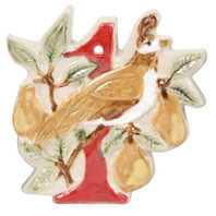 12 Days of Christmas Ornament - Partridge in a Pear Tree Ornament