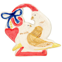 TURTLE DOVES ORNAMENT