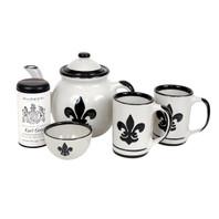 Black Fleur-de-Lis Tea Gift Set