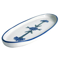 Bachelor Button Serving Tray