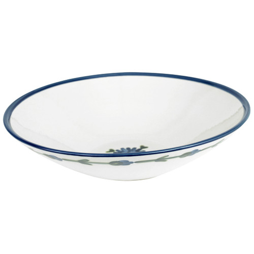 """15"""" Flared Bowl in Bachelor Button, Cornflower Serving Bowl"""