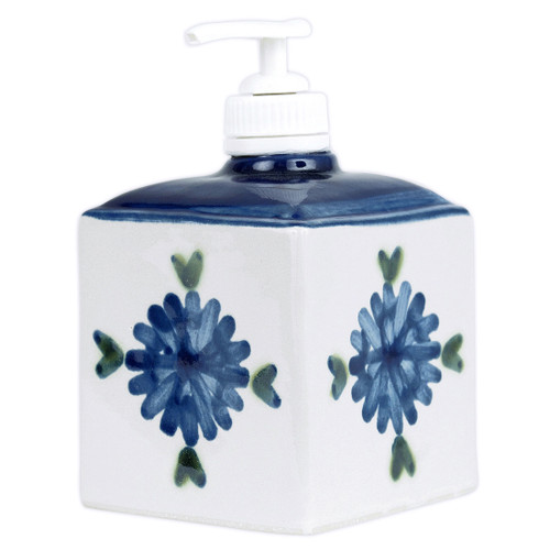 Bachelor Button Soap Dispenser