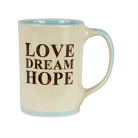 Love Dream Hope Stoneware Mug
