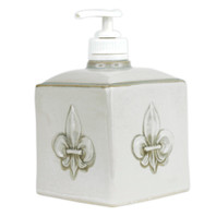 Embossed Fleur de Lis Soap Dispenser