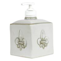 Embossed Fleur de Lis Soap Dispenser