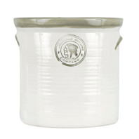 Herb Planter, Herb Crock in Grey