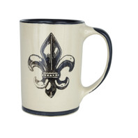 14 oz Mug in Transparent Fleur de Lis
