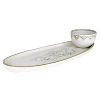 Antipasto Tray with Bowl in Embossed Running Horse