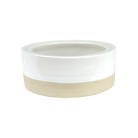 "5"" Rimmed Pet Bowl in White - Louisville Pottery Collection"