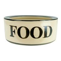 "9"" Rimmed Pet Food Bowl"