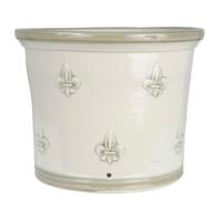 """11"""" Fleur de Lis Gardeners Pot in Special Gray"""