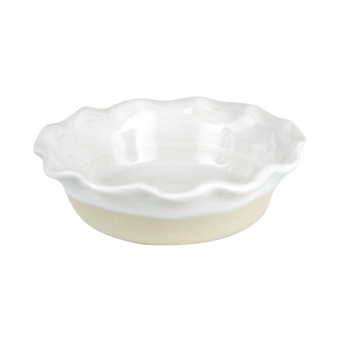Mini Pinched Rimmed Pie Plate in White - Louisville Pottery Collection