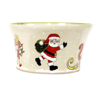 "12"" Salad Bowl in Santa's Elves"