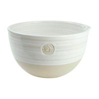 #2 Louisville Pottery Collection Nested Mixing Bowl in White