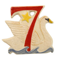 Seven Swans A Swimming Twelve Days of Christmas Ornament