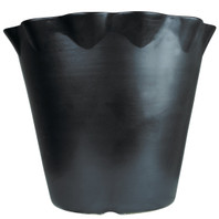 "17"" Flower Pot in Bell Black"