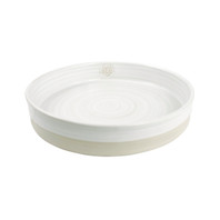 """12"""" Tray Stamped & Embossed in Center in White - Louisville Pottery Collection"""