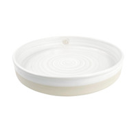 """14"""" LPC Tray Stamped & Embossed in Center in White - Louisville Pottery Collection"""