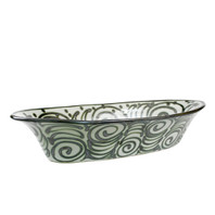 Large Soiree Bowl in Graffiti Green
