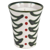 11oz Julep Cup with Soy Candle In Holly Graffiti