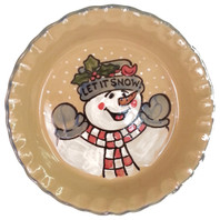 Pinched Pie Plate in Let it Snow