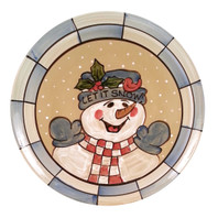 "16"" Round Platter in Let it Snow"
