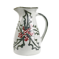 2 1/2 QT Pitcher in Holly Graffiti