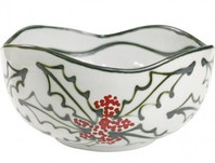 "14"" Small Landscape Bowl in Holly Graffiti"