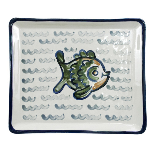 "14"" Square Tray in Sea Life"